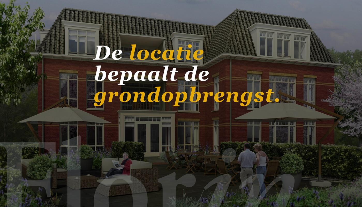De locatie bepaalt de grondopbrengst.