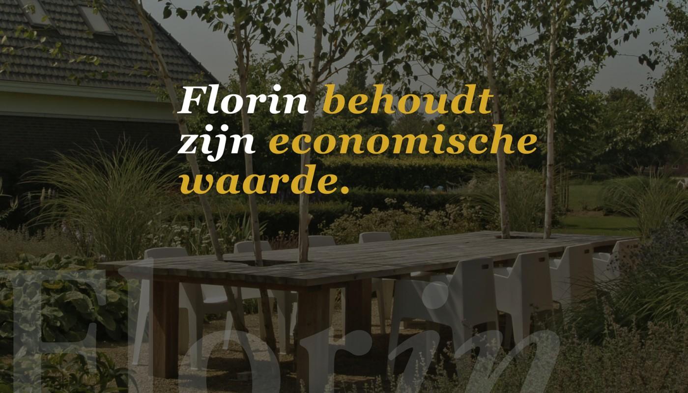 Florin behoudt zijn economische waarde.